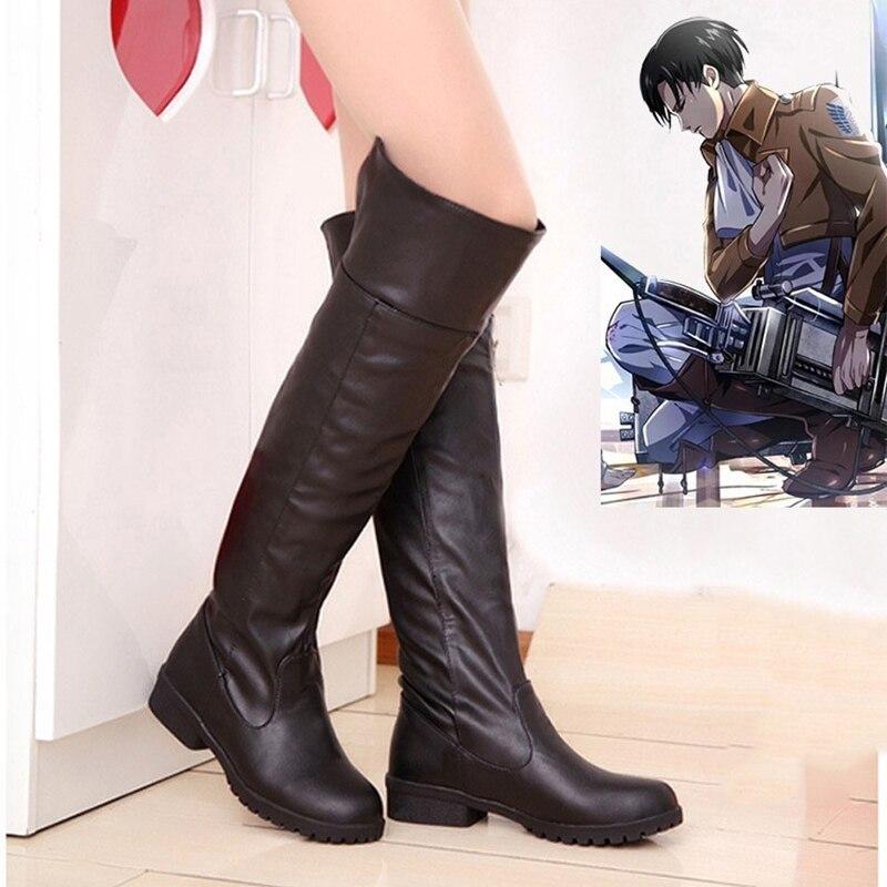 أحذية Harajuku التأثيرية المصنوعة يدويًا على Titan Mikasa ، أحذية مخصصة ، أحذية