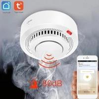 Tuya Smart Intelligent WiFi Smoke Alarm Smoke Detection Sensor Smart life Home Control Smoke Detector APP Push Remote Monitoring