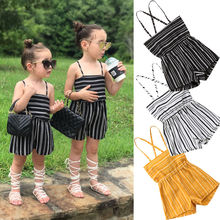 Brand New Summer Toddler Kids Baby Girls Off Shoulder Rompers Jumpsuits Playsuit Shorts