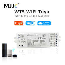 Tuya RGBCCT LED Controller 12V 24V DC 2.4G RF Wireless Remote Control RGB CCT Driver WIFI Dimmer Support Amazon Alexa Echo WT5