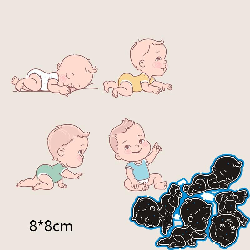 Cutting Dies Baby DIY Scrap Booking Photo Album Embossing Paper Cards 80*80mm