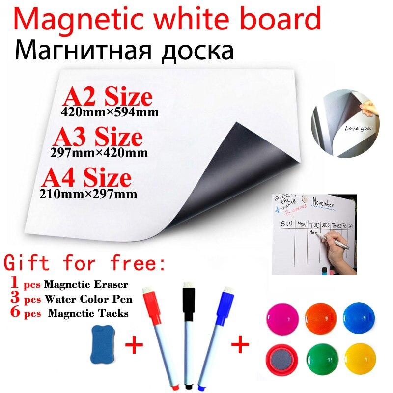 Магнитная доска для школы, детские белые стираемые доски, доски объявлений для дома и офиса, магнитные стикеры на холодильник