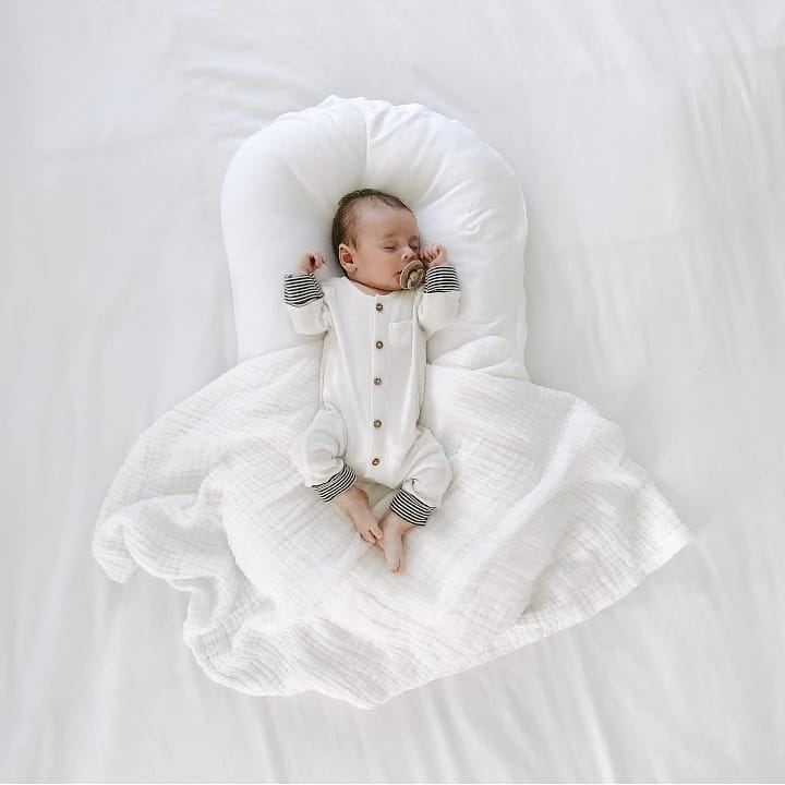 75*45cm Newborn Baby Lounger Portable Baby Nest Infant Cotton Cradle Crib Bed Baby Travel Bed