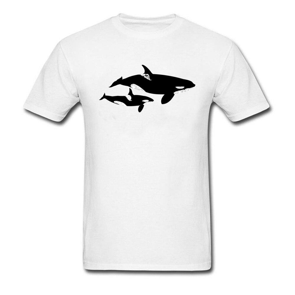 Camiseta de tiburón Orca asesino ballena madre camiseta para hombres Top y camisetas de manga corta cuello redondo moda camiseta blanca ropa