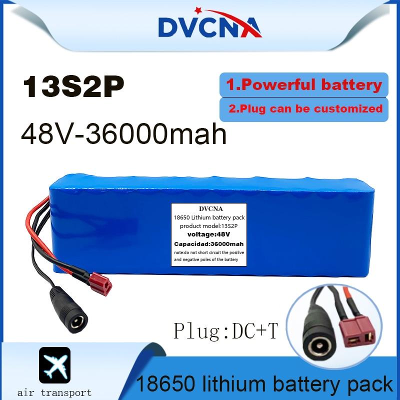 48 فولت 36000mah 13s2p عالية الطاقة 18650 بطارية مركبة كهربية دراجة نارية كهربائية لتقوم بها بنفسك بطارية 48 فولت BMS حماية