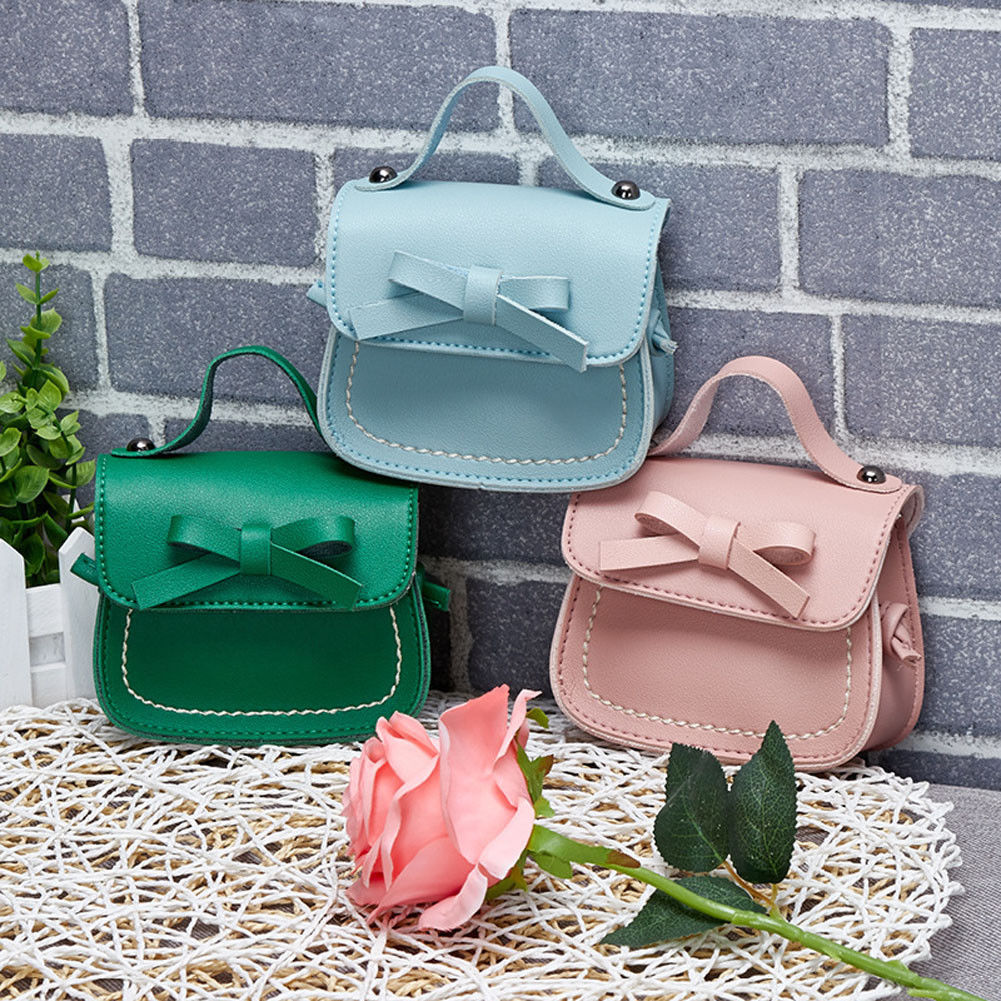 7 Colors Children Girls Bowknot Coin Purses Toddler Baby Girls Messenger Bags Princess School Should