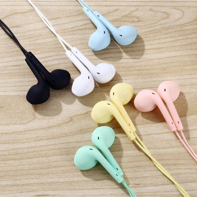 Portable Sport Earphone Wired Super Bass With Built-in Microphone 3.5mm In-Ear Hands Free For Smartphones