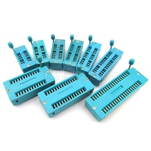 1pcs 2.54MM IC lock seat  socket Test Universal ZIF sockets 14Pin 16Pin 18Pin 20Pin 24Pin 28Pin 14P 16P 18P 20P 24 28P IC socket