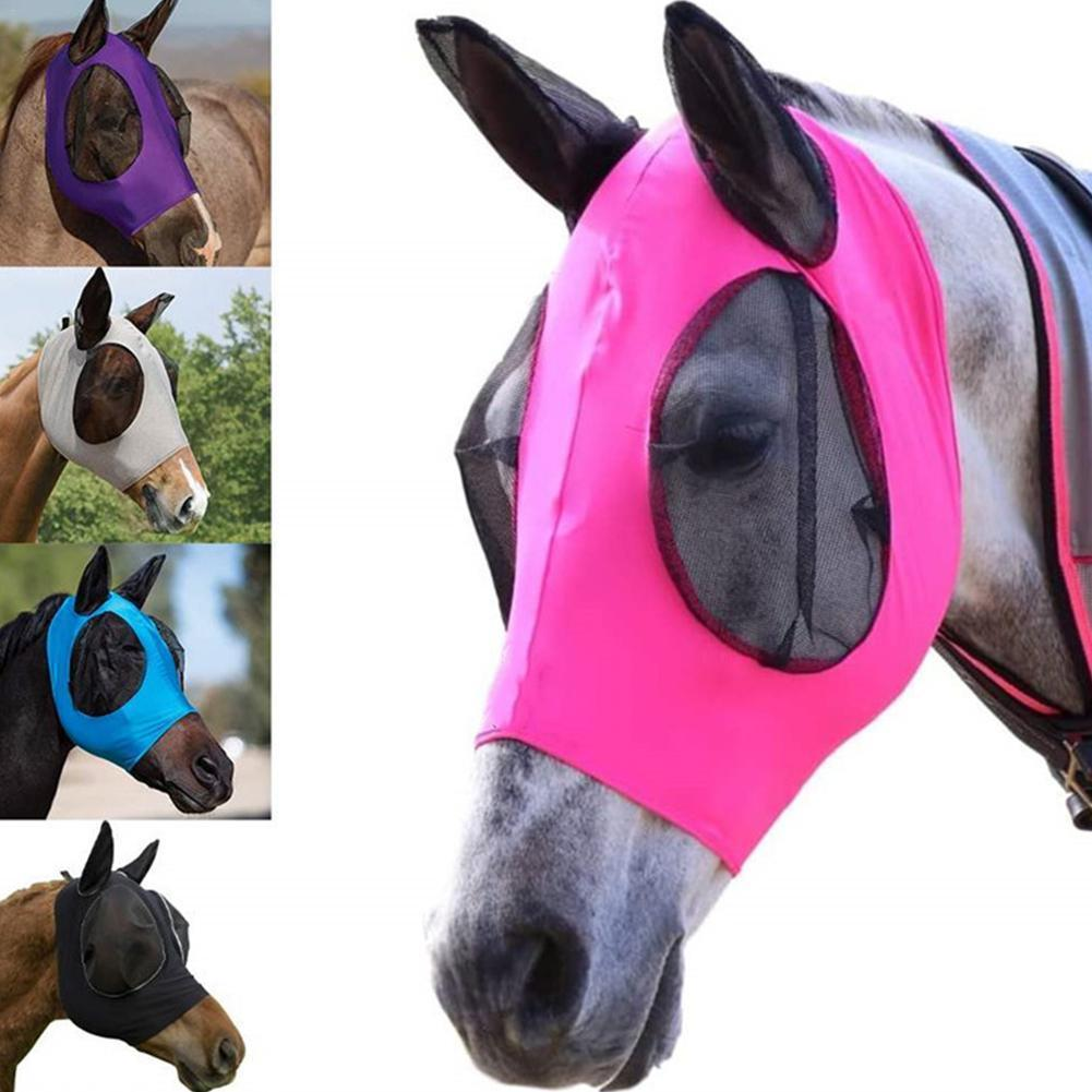 Воздухопроницаемая сетчатая маска для лошадей, летняя защита глаз животных и комаров для украшения семьи, животных, лошадей