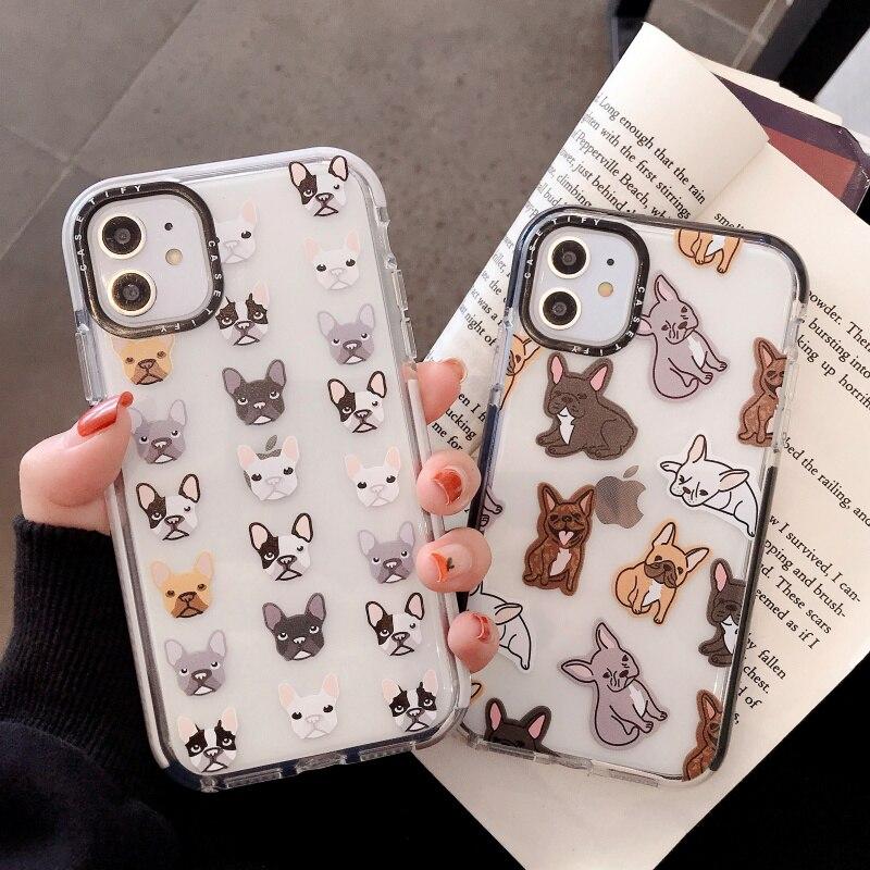Funda de teléfono para Apple iPhone 11 Pro Max X XR XS MAX 8 7 Plus, bonita Funda de silicona suave de TPU con Bulldog Francés, Funda de regalo
