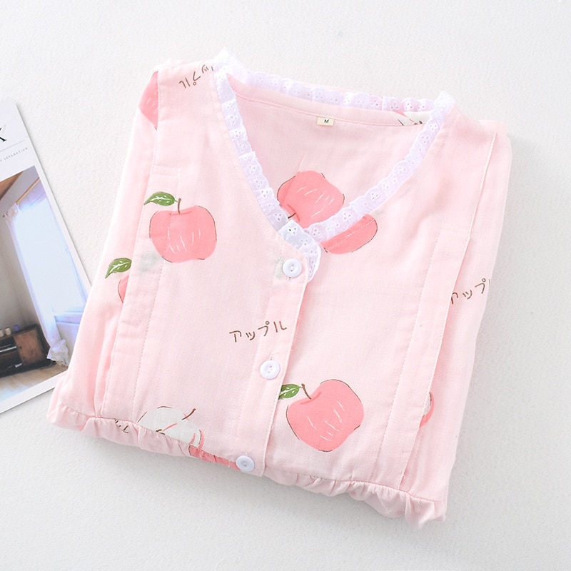 Fdfklak Maternity Nursing Nightwear Pink Cotton Breastfeeding Sleepwear For Pregnant Women Pregnancy Pajamas Night Wear Set enlarge