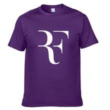 2021Creative design RF roger federer logo t shirt solid color cotton T Shirt Men's New Arrival Style