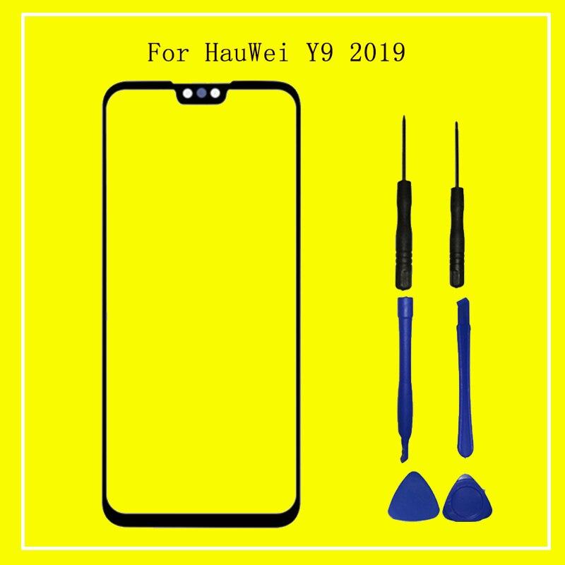Pantalla táctil para Huawei Y9 2019 pantalla táctil digitalizador Panel de cristal frontal Sensor de lente de repuesto