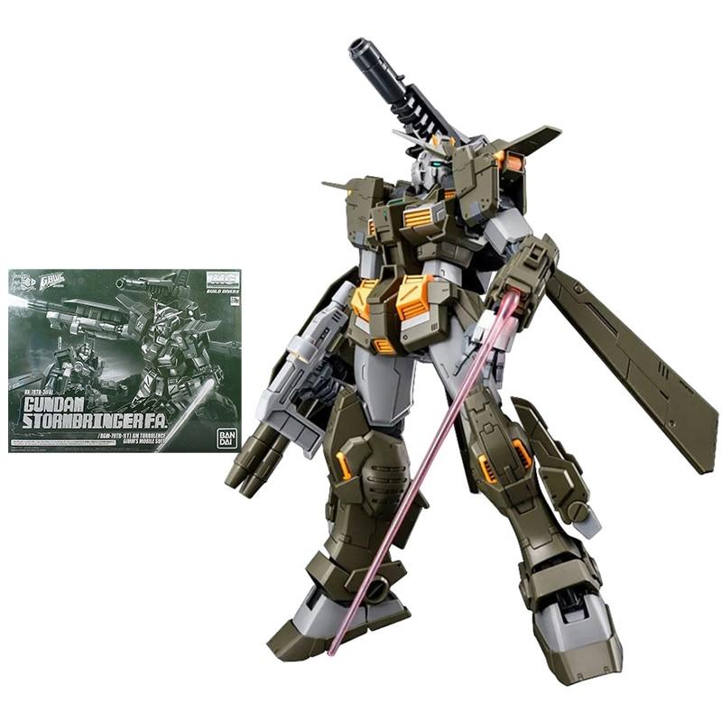 Набор моделей Bandai Gundam, аниме фигурки MG 1/100 Gundam Stormbringer FA, Подлинная модель Gunpla, экшн-фигурки, игрушки для детей