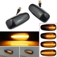 2x car led dynamic smoked blinker turn signal light side marker lamp for mercedes benz e class w124 ml class w163 sprinter w901
