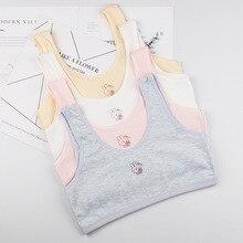 New Children Hipster Girl Bra 8-16 Years Breast Care Cotton Teens Teenage Underwear No chest pad sum