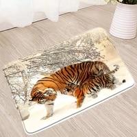 tiger bath mat 3d forest animal bathroom rug toilet floor shower enclosure kitchen carpet douche doormat non slip absorbent mats