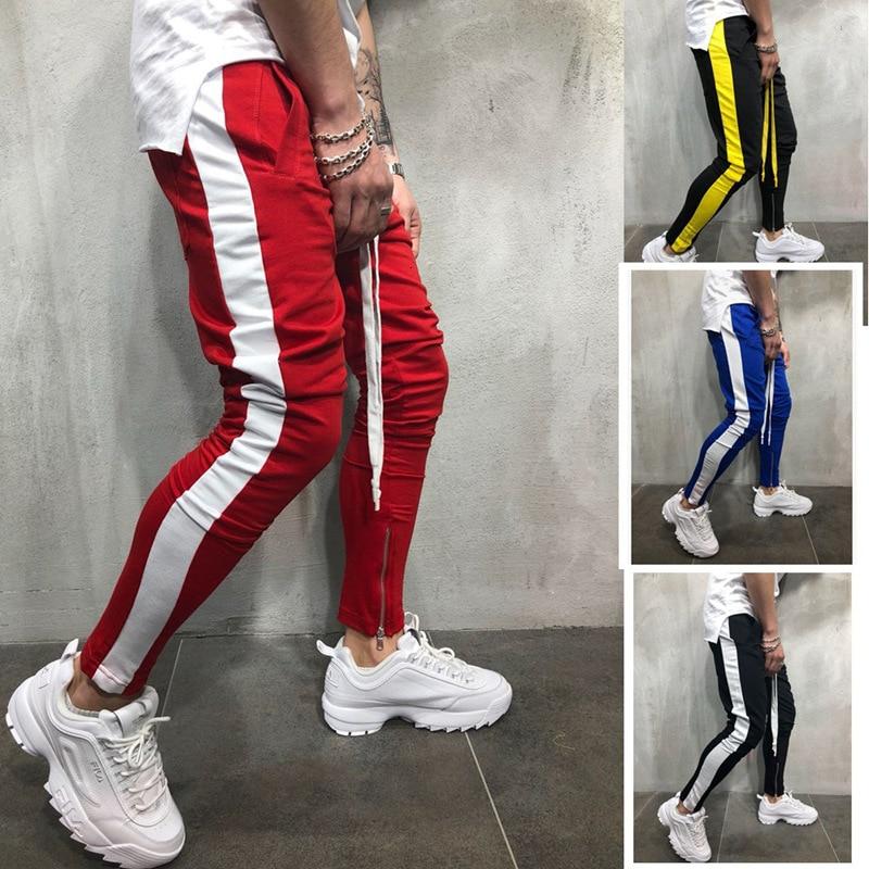 Pantalones casuales para hombre, Jogging, Streetwear, Hip Hop, pantalones deportivos para hombre, pantalones de chándal a rayas, pantalones para correr, pantalones para hombre