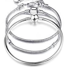 BITWBI 2020 New Original Charm Bracelet Rose Gold Mickey Snake Chain Fit Pandora Bracelets For Fashion Women Beads DIY Jewelry