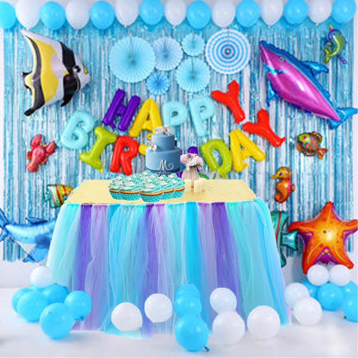100*80 سنتيمتر مفرش طاولة تول المائدة توتو الزفاف ديكور حفلة عيد ميلاد استحمام الطفل الأميرة موضوع لوازم الحفلات المنسوجات المنزلية