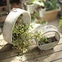 vintage nordic simple flower pot small wood creative flower pot outdoor home garden doniczka ozdobna plants accesories bk50hp