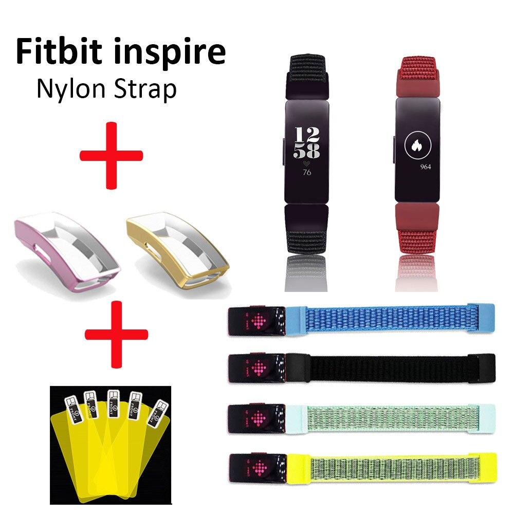Correa de reloj para Fitbit inspire HR pulsera de pulsera para fitbit inspire hr correa de nailon transpirable Smart wearable Accesorios