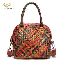2021 Colorful Quality Leather Famous Brand Luxury Ladies Patchwork Large Purse Handbag Shoulder bag