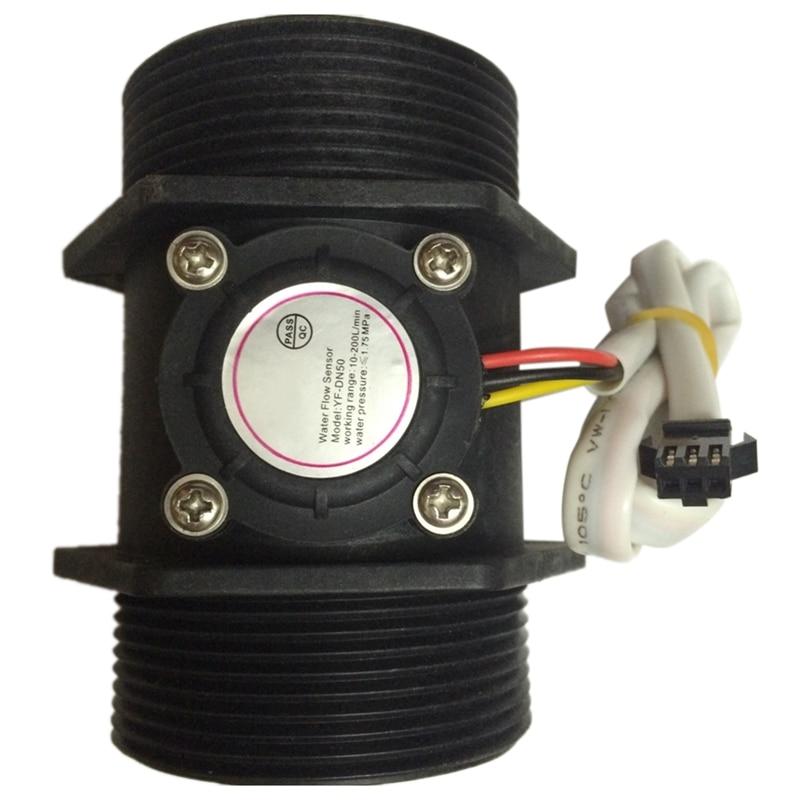 GTBL DN50 Plastic Hall Turbine Water Flow Meter Sensor 2 Inch Flow Sensor 5-250L/Min