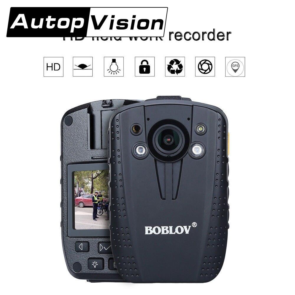 16GB شرطي الجسم يرتديها الكاميرا موقف GPS HD 1296P العمل الميداني مسجل 2 بوصة شاشة لبس كاميرا للرؤية الليلية DVR