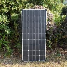 100 Вт 18 в моно солнечная панель Высокая эффективность модуль PV мощность для зарядки батареи лодки караван RV любые другие вне сети приложений