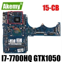 tpn q193 dag75ambad0 for hp 15 cb laptop motherboard 926305 601 926305 001 with i7 7700hq cpu gtx1050 4gb gpu 100 fully tested