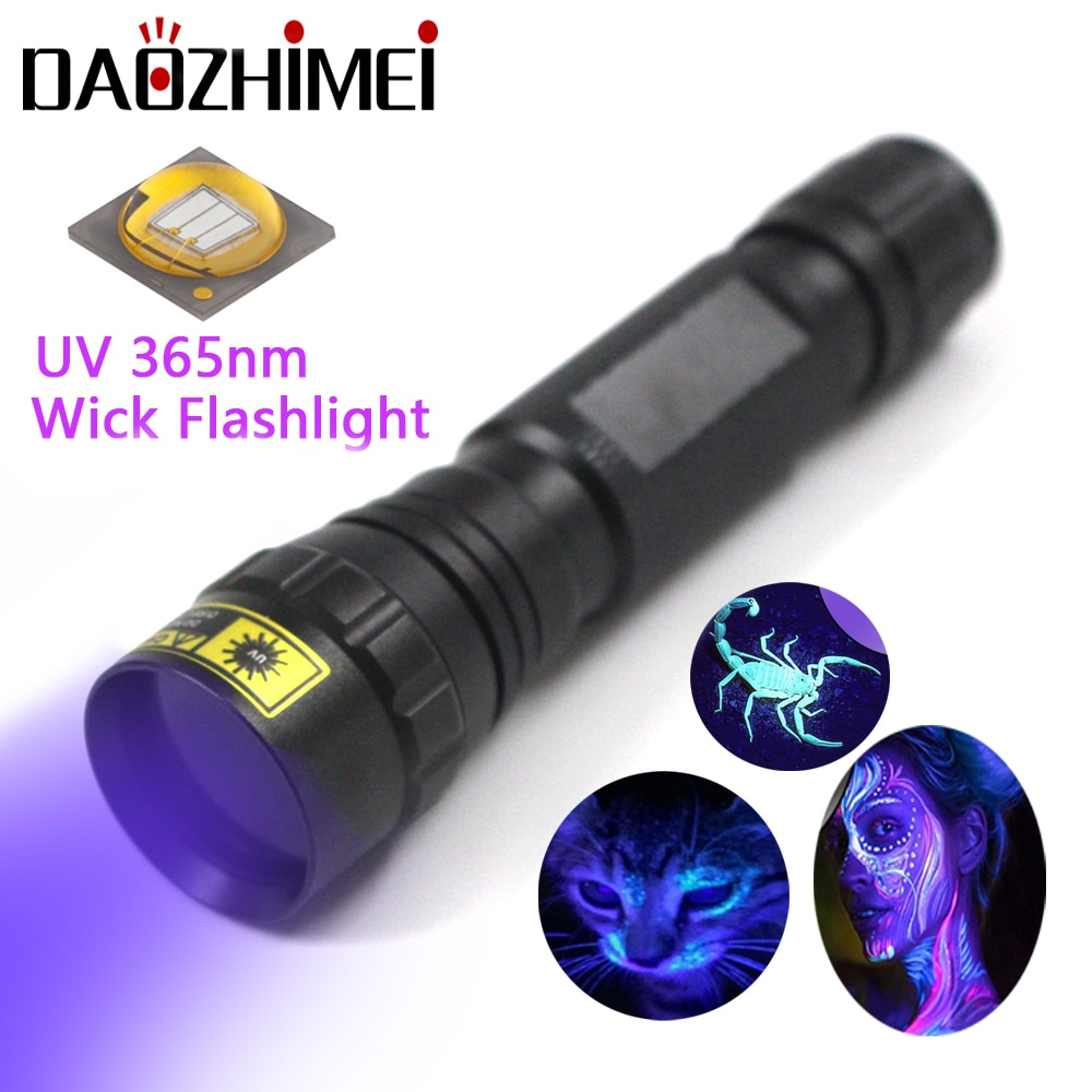 Super UV Flashlight Black Light 365nm LED Violet light Flashlight for Camping Urine Detector for Cats,Pet Stains Scorpions