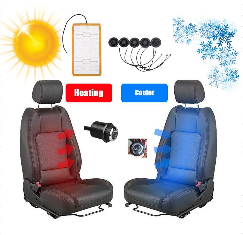 Ventilador para vehículo de 12 v, ventilador de refrigeración de aire para coches, sistema de calefacción de fibra y ventilación para coche con interruptor de rueda en cuatro estaciones