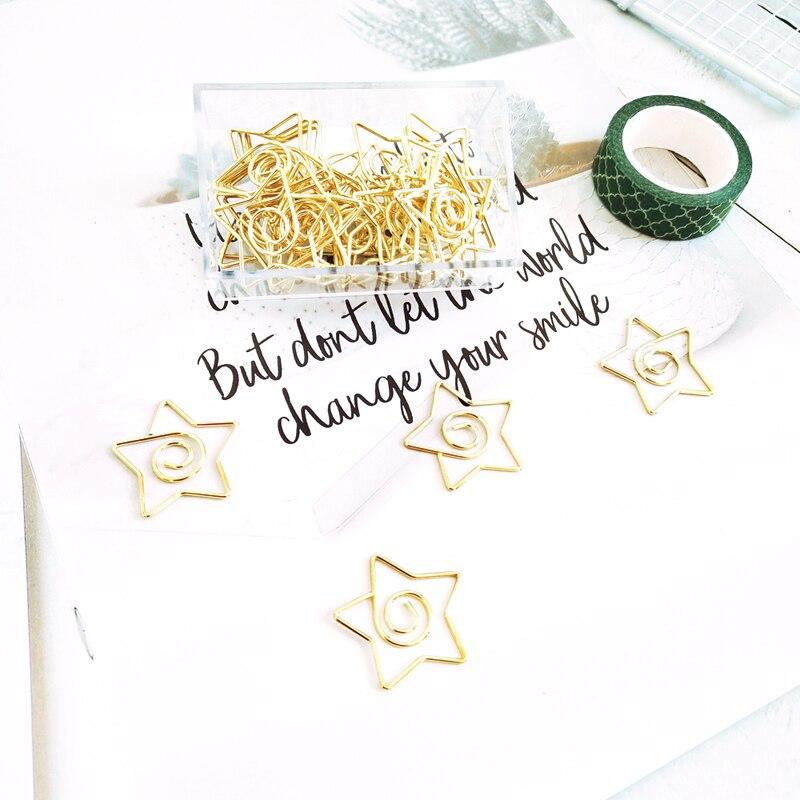 Золотая большая пятиконечная звезда, солнце, звезда, фотозвёзда, бумажный зажим, планировщик, украшение, Золотая Закладка, звезда, бумажные ...
