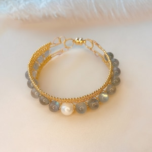 CCijiNG High Quality Moonstone Pearl Hand-wound Heavy Industry Bracelet Daily Wear For Activities SZ3018