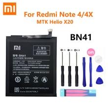 100% Original Xiaomi Redmi Note 4 Note4X Phone Battery BN41 4100mAh For Xiao mi Hongmi Note4 / Redmi Note 4X MTK Helio X20