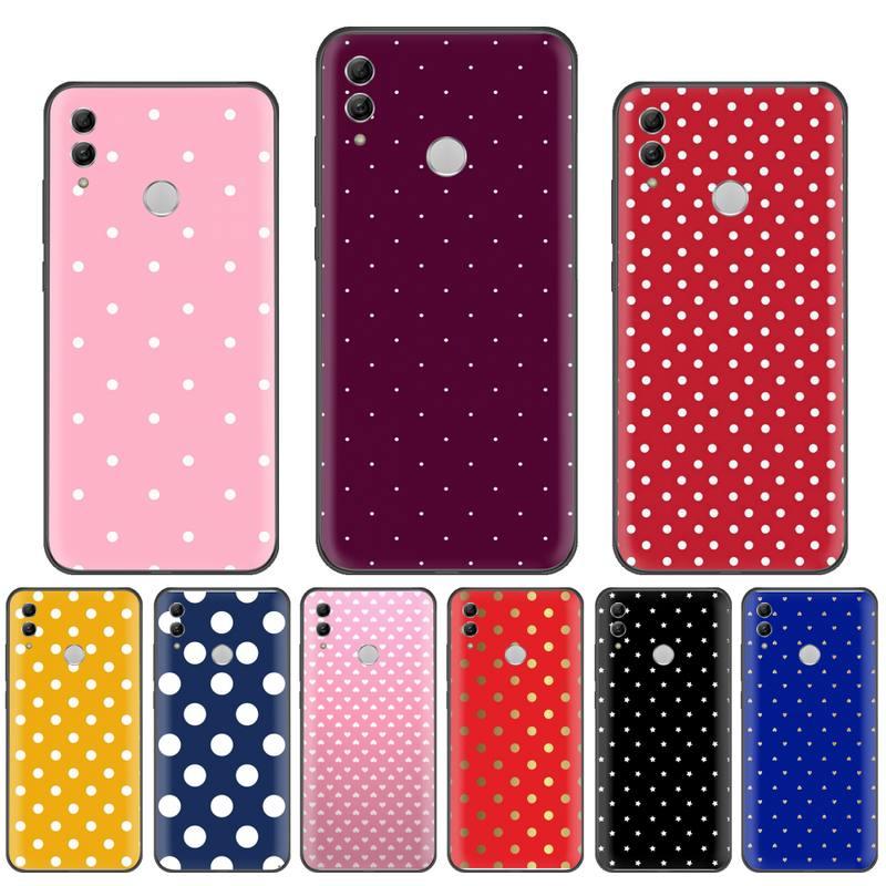 Ponto ponto rosa recém chegado caixa do telefone celular para huawei p9 p10 p20 p30 pro lite companheiro inteligente 10 lite 20 y5 y6 y7 2018 2019