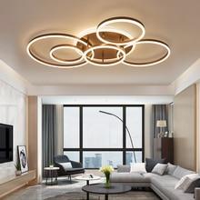 Marron/blanc led lustre Pour Salon Chambre cuisine lustre Dintérieur Maison Éclairage moderne lustre Éclairage lampadari