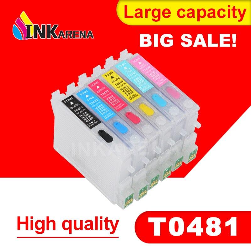 T0481-T0486 чернильный картридж для Epson T0481 чернильный стилус для фото R200 R220 R300 R300M R320 R340 RX500 RX600 RX620 RX640 принтер