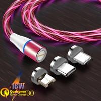 7 Pin Магнитный кабель Micro USB кабель Type C Магнитный телефон Быстрая зарядка провод 3A Kable для Samsung S10 20 Redmi Note 8 7 Pro Honor