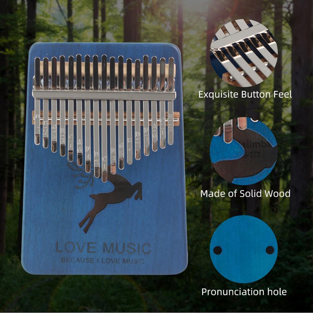 Kalimba 17 Key Mahogany Thumb Piano Mbira Musical Instrument Africa Portable Finger Piano  Machine Musical Kit Child Beginners enlarge