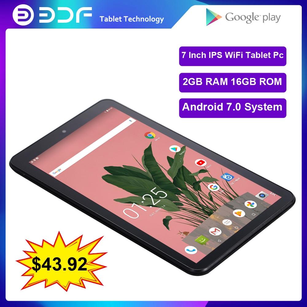 BDF nuevo 7 pulgadas, tableta con WiFi Pc Android 7,0 Quad Core...