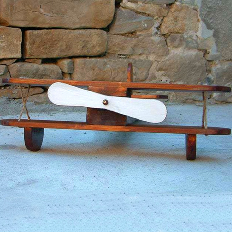 Baby Photography Props Posing Props Baby Shoot Studio Accessori Wood Retro Plane Baby Posing The Hundred Day Photo Creative Prop enlarge