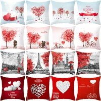 valentines day cushion cover 45x45 love pillowcase sofa cushions decorative throw pillows cover home decoration pillowcover
