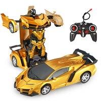 Робот-трансформер на радиоуправлении, модель спортивного автомобиля, игрушка-робот, дистанционное управление, крутой автомобиль, детская и...