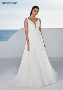 Wedding Dress A-Line Satin Elegant Sweetheart Neckline Sleeveless Backless Floor-Length With For Party Plus Sizes Bride Gown