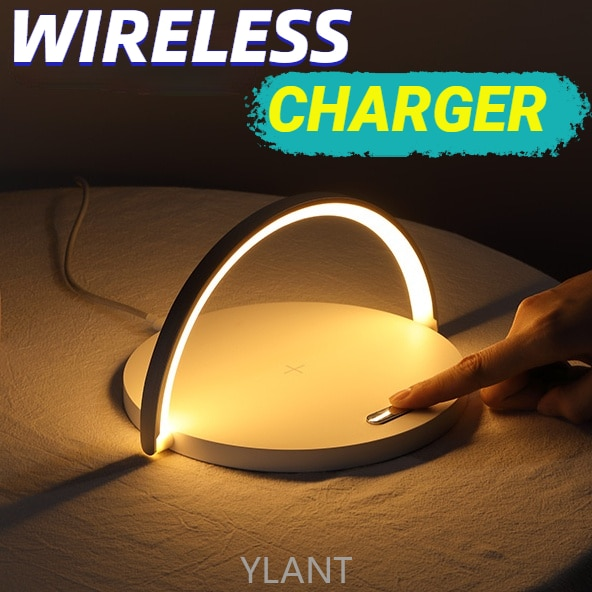 Modern Led Table Lamp For Bedroom Wireless Charging Cell Phone Bluetooth Speaker Bedside Lamp Table Light Wireless Desk Lamp Led