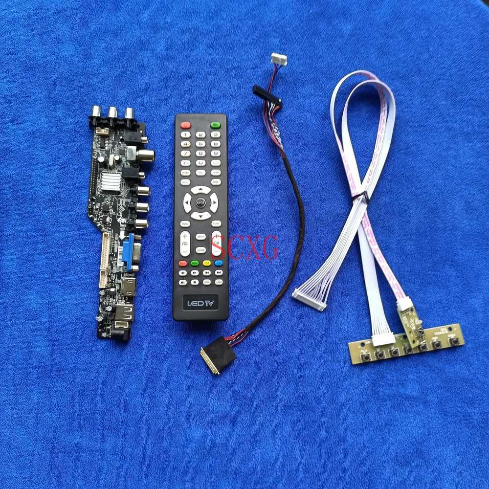 40Pin LVDS Fit HB156WX1/HT156WXB HDMI-compatible USB AV VGA DVB LCD/LED Monitor controller board DIY Kit 1366*768 Digital signal аксессуар palmexx hdmi vga px hdmi vga