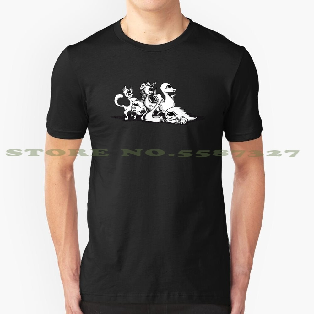 Os quarks partículas critters preto branco tshirt para homem mulher ciência física criatura bonito estranho animal fato partícula monstro
