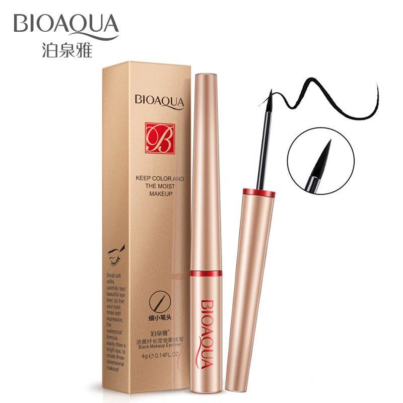 BIOAQUA secado rápido negro líquido delineador de ojos lápiz de larga duración impermeable no decolorante cosmético delineador de ojos maquillaje belleza